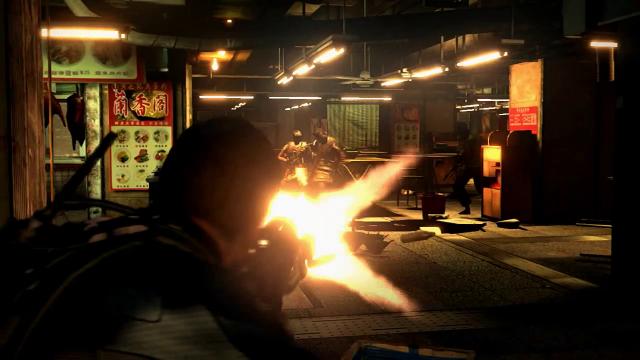 Resident Evil 6 Chris Atirando