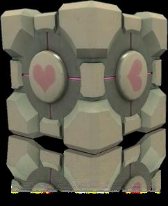 Poxa Dr. Freeman, toma um Companion Cube pra você não ficar muito triste